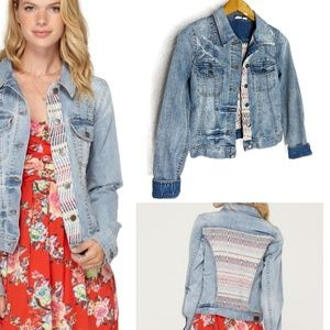 Roxy Dancing Shores Denim Jacket Sz XS